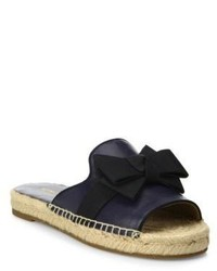 Michael Kors Michl Kors Collection Hawn Bow Leather Espadrille Slides