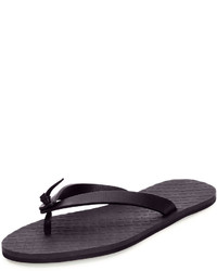 Navy Leather Flip Flops