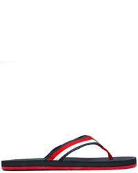 Tommy Hilfiger Striped Straps Flip Flops