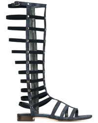Stuart Weitzman Gladiator Denim Sandals