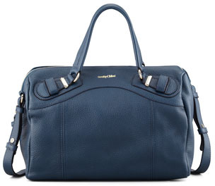 See by Chloe See by Chloe Mattie Leather Handbag, Navy   Where to ... 48408d2f3b