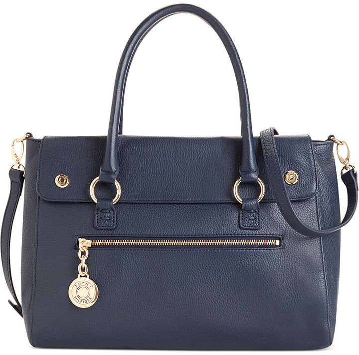 Tommy Hilfiger Starlit Leather Convertible Shopper