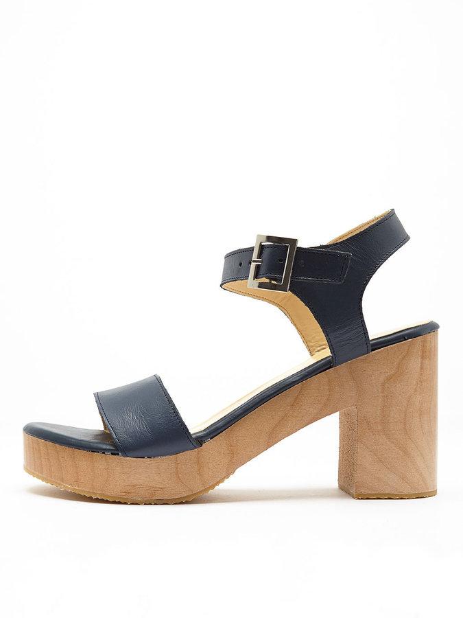 5bc54e43660 ... American Apparel Wooden Heel Sandal ...