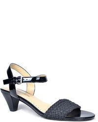 Adrienne Vittadini Carinda Woven Leather Heeled Sandals