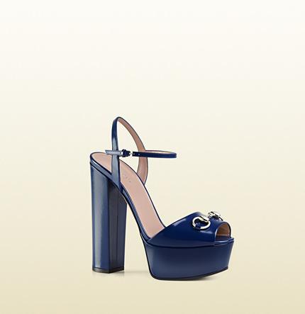 5fbe394a7895 ... Gucci Polished Leather Platform Sandal ...