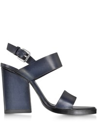 Jil Sander Navy Blue Leather Sandal