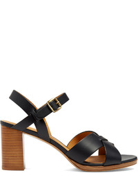 A.P.C. Opra Block Heel Leather Sandals