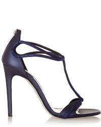 Rene Caovilla Ren Caovilla Crystal Embellished Leather Sandals