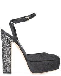 Sergio Rossi Glitter High Heel Sandals