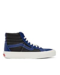 Vans Blue And Black Sk8 Hi Reissue Vi Sneakers