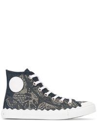 Chloé Kyle Denim Hi Top Sneakers