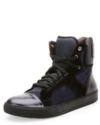 Lanvin Men's High Top Sneaker