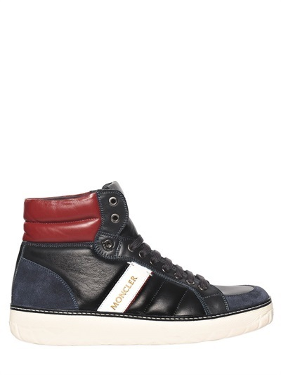 ... Moncler Leather High Top Sneakers