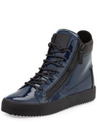 Giuseppe Zanotti Patent High Top Sneaker