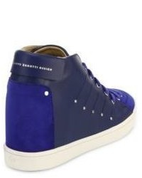 ca0aa99933 ... Giuseppe Zanotti Soma 50 Leather High Top Wedge Sneakers ...