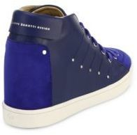 9b64a00c53 Giuseppe Zanotti Soma 50 Leather High Top Wedge Sneakers
