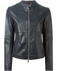 Armani Jeans Zipped Leather Jacket