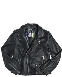 MSGM Leather Biker Jacket