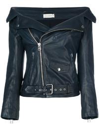 Faith Connexion Off Shoulder Leather Jacket