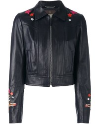Roberto Cavalli Circus Patch Leather Jacket