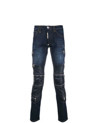 Philipp Plein Slim Fit Biker Jeans