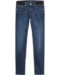Alexander McQueen Slim Jeans With Leather