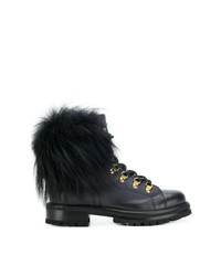 Ermanno Scervino Pom Pom Lace Up Boots