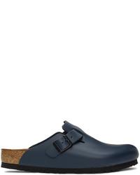 Birkenstock Blue Leather Boston Loafers