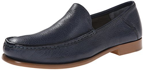 ... Navy Leather Loafers Calvin Klein Danby Waxy Leather Slip On Loafer