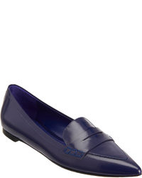 Gianvito Rossi Pointed Toe Penny Loafer
