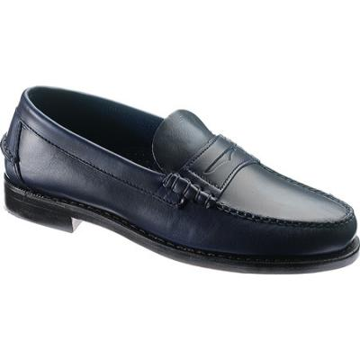 Sebago Classic Ink Blue Full Grain Leather Penny Loafers ...