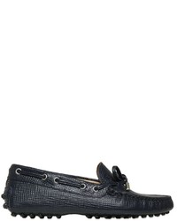 Tod's Laccetto Embossed Leather Loafers