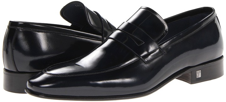 VERSACE COLLECTION Leather Penny Loafer ZIZTQAvSZ