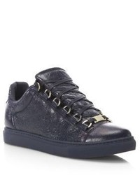 Balenciaga Arena Leather Low Top Sneakers