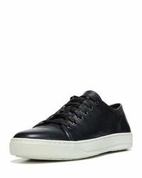 Vince Austin Leather Low Top Sneaker Blue