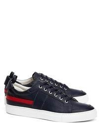 Brooks Brothers Pebble Leather Striped Sneakers