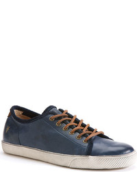 Frye Chambers Low Navy Pebbled Full