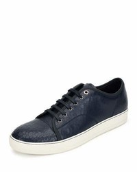 Lanvin Cracked Patent Leather Low Top Sneaker