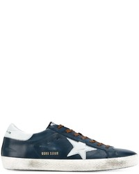 Golden Goose Deluxe Brand Leather And Suede Super Star Low Top Sneakers