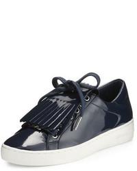 MICHAEL Michael Kors Michl Michl Kors Keaton Kiltie Faux Patent Sneaker Navy
