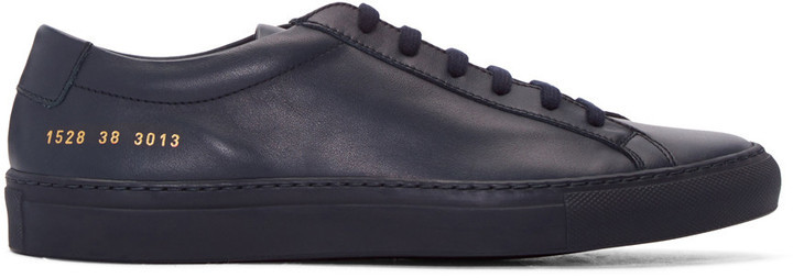 867dd506cd19 ... Common Projects Navy Original Achilles Sneakers ...