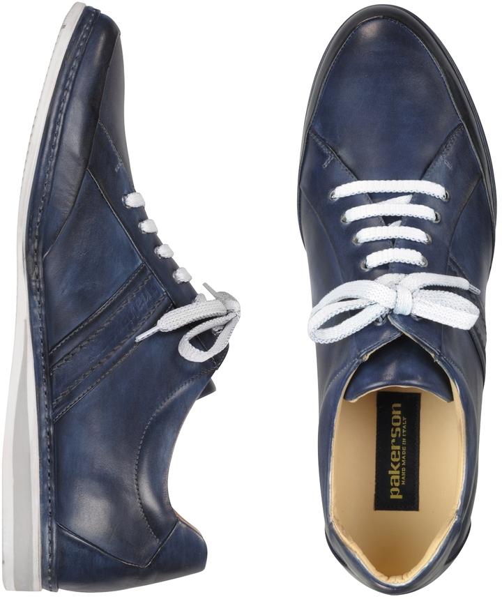 110ab45ec $380, Pakerson Signature Blue Leather Sneaker Shoes