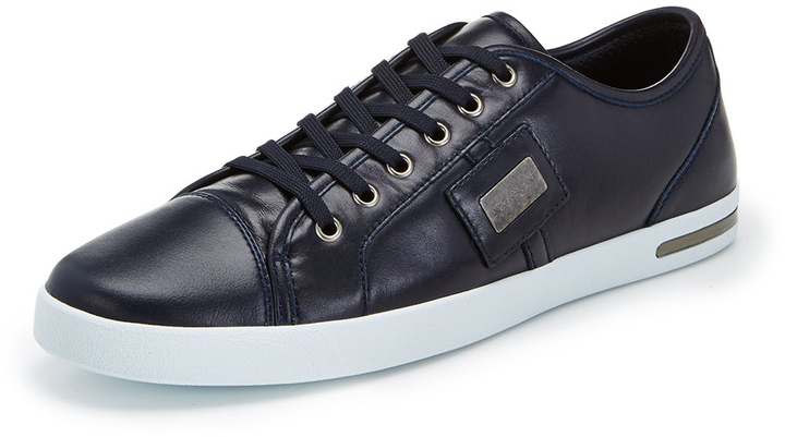 Dolce & Gabbana Leather Low-Top Sneakers outlet new styles shop online clearance many kinds of deals cheap price AglfxcbhBT