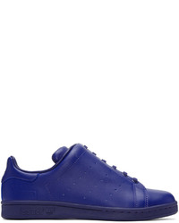 Y's Ys Blue Adidas Originals Edition Diagonal Stan Smith Sneakers