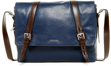 Cole Haan Pebble Leather Messenger Bag