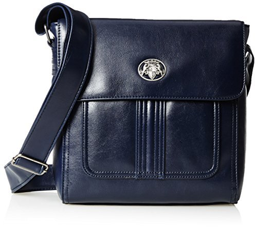 1c576e3d0e4a Y6 Eco Leather Day Bag. Navy Leather Messenger Bag by Armani Jeans