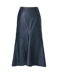 Tibi leather fluted skirt medium 372174