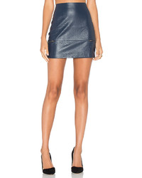 Lovers + Friends Good To Be Bad Mini Skirt In Navy