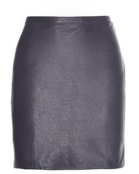 Closed Leather Miniskirt