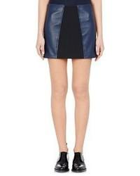 Paco Rabanne Lambskin Miniskirt Blue Size 36fr